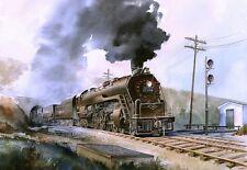Reading RR RDG T-1 #2124 Steam Locomotive, Perkasie Tunnel, PA. Rail Notecards