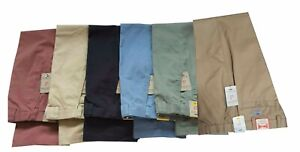 Cotton Chino Trousers  Self Side Adjusting Expandable Waist Pants W32 to W48