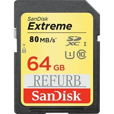 SanDisk 64GB Extreme SD 80MB/S U1 SDXC card class10 SDSDXN-064G 4K HD VIDEO