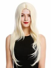 Wig Ladies Women Long Smooth Middle Part Light Blonde 3217
