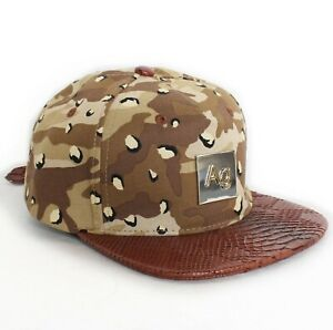Chocolate Chip Camo Snakeskin Strapback Hat Cap snapback dad duck NEW