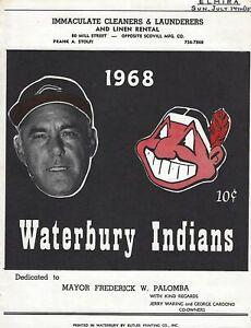 1968 Waterbury Indians Minor League Baseball Program - Eastern League #FWIL