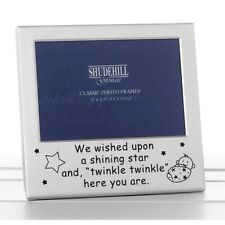 Shudehill Satin Silver Occasion Frame Twinkle Twinkle 5x3