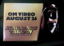 Star Wars Trilogy Special Edition Darth Vader PROMO VIDEO Button Pin