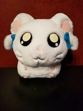 "2002 🐭💕Hasbro Hamtaro BIJOU HAM HAM 7"" Plush White Girl Hamster Blue Bows NICE"