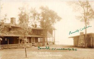 H70/ Cass Lake Minnesota RPPC Postcard c1930s Sah-Kah-Jay Cabins 76