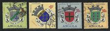 1963 Angola Scott #485-488 - Coats of Arms - 4 High Values - Used