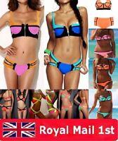 Celeb Bandage Bikini Set Padded  Swimsuit Bathing Swimwear Size 4 6 8 10 12 14