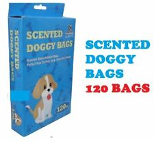 Scented Plastic Waste Doggy Black Rubbish Bags, - 120 DOGGY BAGS