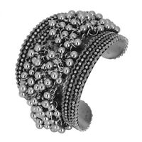 Jwellmart Indian Wedding Oxidized Silver Ghungroo Studded Open Fashion Bracelet