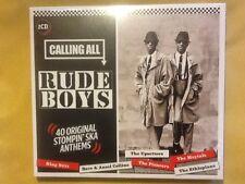 Calling All Rude Boys - 40 Original Stompin` SKA Anthems Skinhead Reggae DBL CD
