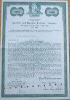 1985 Railroad Bond Certificate: 'Norfolk & Western Railway Company'