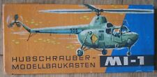 Russian Air Craft Plastic Model Mi 1 Helicopter Copter Glue Puzzle Germany Old