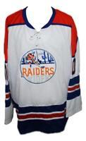 Any Name Number Size New York Raiders Retro Custom Hockey Jersey White