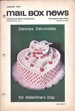 Vintage Cake Magazine Mail Box News January 1978 Maid of Scandinavia