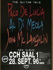Paco de lucía-al di meola 1996-ORIG. Concert Poster -- concierto cartel a1 nuevo