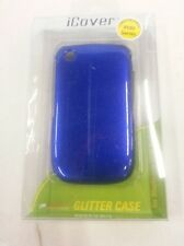 iCover Glitter Case For BlackBerry Curve 8520 8530 9300 Blue Cover Fitted 8E
