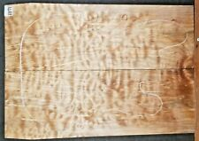 Quilted Curly Figured Maple Wood 11171 Luthier Guitar Top Set 23 x 16 x .75