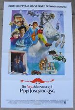 NEW ADVENTURES OF PIPPI LONGSTOCKING ORIGINAL FOLDED MOVIE POSTER 1988 TAMI ERIN