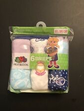 Fruit of the Loom Toddler Girls 6-Pair Hipsters Underwear Size 2T/3T NWT New