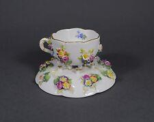 Meissen plástica flores prunktasse mokkatasse ut taza Mocha Cup Porcelain