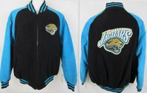 Jacksonville Jaguars Mens Size Medium Wool Blend & Suede Leather Jacket A1 2571