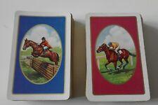 Vintage Piatnik Double Deck Playing Cards  Horses- Showjumping / Jockeys Austria