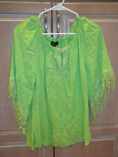 MELISSA PAIGE BRAND BRIGHT GREEN 3/4 SLEEVE TOP SHIRT  LADIES SIZE SMALL