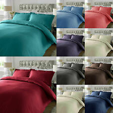 300 Thread Count Satin Stripe Duvet Cover With Oxford Pillow 100% Cotton S-D-K