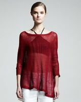 NEW AUTH Helmut Lang Red Marled Pullover Tunic SIze M $345