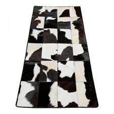 kuhfell teppich - Modell 7 patchwork fellteppich 150x75 cm unikat