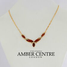 Italian Made Elegant Baltic Amber Necklace in 9ct Gold-GN0055H RRP£390!!!
