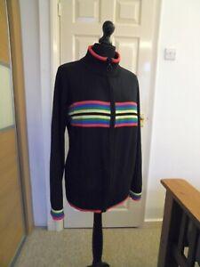 Ladies zipped Black Cardigan size 24 26 28