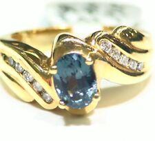 VINTAGE 14k Oro Diamante Natural Spinel 1.22ct solitario