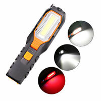 COB LED Work Light Rechargeable Magnetic Lamp Flashlight SOS Emergency Hook