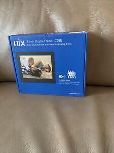 NIX  - 8 inch Hi-Res Digital Photo Frame with Motion Sensor (X08E)