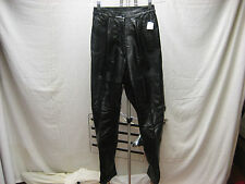 Arlando Women's Motorcycle or Dress Pants Excellent Black Leather 5 6 India NEW