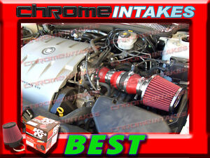 K&N+RED 2004 2005 CADILLAC DEVILLE ALL MODELS WITH 4.6 4.6L V8 AIR INTAKE KIT