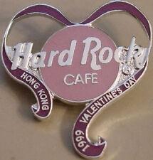 Hard Rock Cafe HONG KONG 1999 Valentine's Day PIN Heart w/ Ribbon Catalog #3045