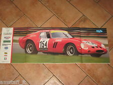 # POSTER FERRARI 250 GTO 1962 VINCITRICE TARGA FLORIO 1989 CM.82X28 AG23