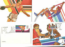 1984--OLYMPICS IN L.A.--POST CARDS STAMPED @ OLYMPIC STATIONS IN LA--LOT-4--NMT