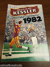 Kessler Whiskey Advertisement  Football Handbook 1982