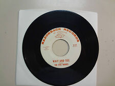 """FIVE ROGUES:Wait And See 2:14-Tab Top-U.S. 7"""" 1966 Razorback Records Of Arkansas"""