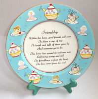 """Friendship"" 12"" D. Decorative & Functional Porcelain Collector's Plate, Boxed"