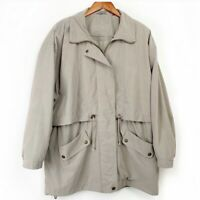 AEROS Khaki Vented Jacket Men's Size Large Beige