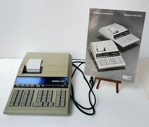 Monroe 3140 Business Printing Calculator with Operating Manual + Paper (Working)