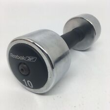 10 LB Reebok Chrome Rubber Dumbbell Weight for fitness & workout