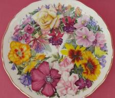 ROYAL ALBERT BIRTHDAY BOUQUET FLORAL PLATE A BOUQUET FOR THE QUEEN MOTHER + CERT