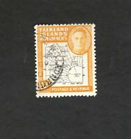 1948 Falkland Islands Dependencies SC #IL6 Map Θ used stamp
