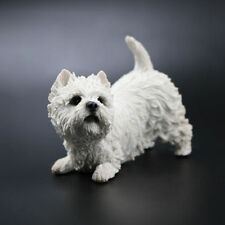 Resin West Highland White Terrier dog Hand Painted simulation model Statue